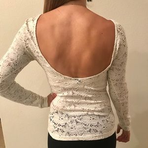 Lacy Long Sleeve Top